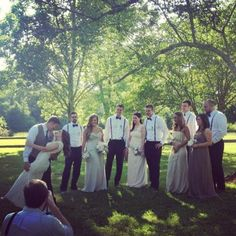 My brothers Rustic Southern Wedding - The Wedding Party and Photographer - Candid picture. @Vinewood Weddings & Events @Ashley Williams @Christina Skowronski
