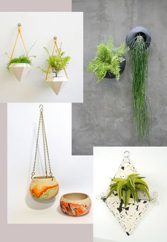 Modern, Boho, Shabby Chic and Contemporary hanging planters TV room greenery! Hanging Baskets, Hanging Planters, Wall Planters, Rectangular Planters, Modern Planters, Green Landscape, Plant Holders, Indoor Plants, Indoor Gardening