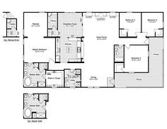 The Evolution SCWD76X3 or VR41764C Home Floor Plan | Manufactured and/or Modular Floor Triple Wide Plans available floor plan