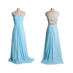 Cross Sequin Band Back Chiffon Train Prom Dress Teal Long Open Back... ($130) ❤ liked on Polyvore featuring dresses, gowns, sequin cocktail dresses, homecoming dresses, sexy prom dresses, long formal dresses and teal prom dresses