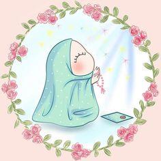 Cute Little Drawings, Cute Drawings, Art Magazin, Hijab Drawing, Doodle Quotes, Portrait Cartoon, Butterfly Clip Art, Islamic Cartoon, Islam For Kids