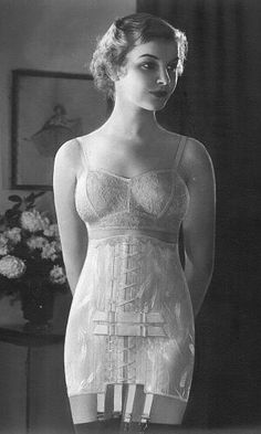Early 1930s model in a Spencer Sacro-Illiac corset.