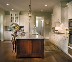 Kitchen With Island In West Chester, PA. Designed By Chester County Kitchen  And Bath