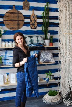 The Shibori shop and studio in Sydney is the creative Space of Pepa Martin and Karen Davis. Hand dyed shibori fabric and leather homewares and handmade.