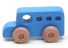 Handcrafted wooden bus natural organic wooden toys by woodenplay, $14.00