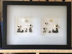 Sea glass and beach treasures picture in a frosted glass shadow box frame. Glass Shadow Box, Shadow Box Frames, Frosted Glass, Sea Glass, Ruby Wedding, Day For Night, Friend Wedding, Picture Frames, Handmade Items