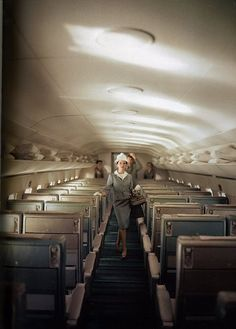 back when travel was glamorous. (i.e. before it became acceptable to fly in a velour juicy suit)