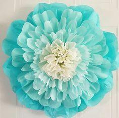 20 inch Aquamarine tissue paper flower                                                                                                                                                     More
