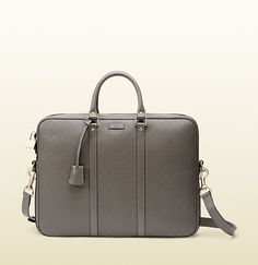 Gucci - Bright diamante leather briefcase Ajdustable detachable shoulder strap Double top handles $1950