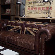 Man cave Andrew Martin Rebel Sofa Union Jack - Sofas - Furniture