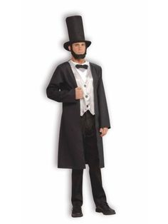 Abe Lincoln Costume   Mens Historical Halloween Costumes