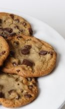 Chocolate chip cookies: These cookies were sooo good! We dropped them so they were more of a rounded cookie, less flat