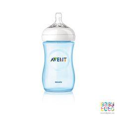 Mamadera natural azul. 260 ml. Marca Avent http://www.babytuto.com/productos/lactancia-mamaderas,mamadera-natural-azul-260-ml,15101?bt_f=brand