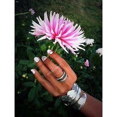 "Gelish ""Sleek White"" negative space manicure + Swarovski crystals"