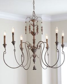 """Salento"" Six-Light Chandelier at Horchow- this is in my guest room----"