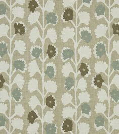 Upholstery Fabric-Robert Allen Surreal Vines Twine