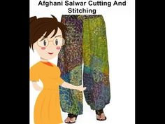 Afghani Salwar Cutting And Stitching - Tailoring With Usha - YouTube