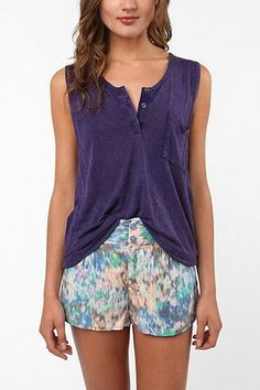 UrbanOutfitters.com > Staring at Stars Overdyed Henley Tank