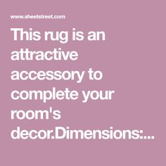This rug is an attractive accessory to complete your room's x Fabric Cotton Polyester Room Rugs, Rugs In Living Room, Flokati Rug, Rugs And Mats, Striped Rug, Room Decor, Content, Fabric, Bedroom
