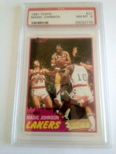 1981 Magic Johnson Topps #21 PSA Graded 8 NM-MT Basketball Card by Topps. $14.99. PSA Graded 8 NM-MT. Great 2nd year card from Magic. Includes First Class Shipping Upgrade.