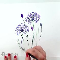 """""""I paint for myself. I don't know how to do anything else, anyway. Also, I have to earn my living, and occupy myself."""" – Francis Bacon By 💫 Release your creativity with a BONUS eBook Library by buying NIL Tech Pencil Set, click ➡️THE LINK Watercolor Paintings For Beginners, Watercolor Video, Watercolor Techniques, Watercolour, Watercolor Projects, Watercolor Flowers Tutorial, Floral Watercolor, Simple Watercolor Flowers, Painting Flowers"""