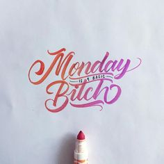 Hand-Lettering by David Milan | Inspiration Grid | Design Inspiration