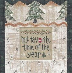 """My Favorite Time"" Counted Cross Stitch Chart by Lizzie Kate"