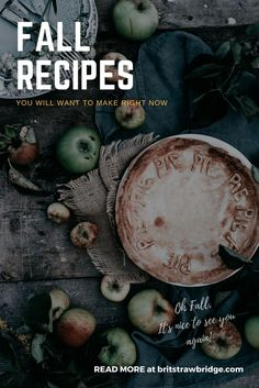 Fall Recipes You Will Want To Make Right Now