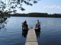 Onkijat Toppalan mökillä, Petäjävesi.    Fishers at Toppala's cottages, Petäjävesi.  http://www.toppalanmokit.fi/index.php http://www.facebook.com/MatkaMaalle  http://www.keskisuomi.net/  http://www.centralfinland.net/