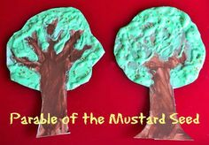 mustard seed parable for kids | Bible Parable of the mustard seed arts and crafts project for kids