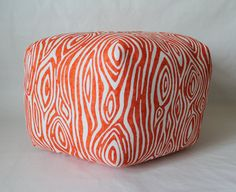 24 Ottoman Pouf Floor Pillow Willow Tangelo by aletafae on Etsy, $110.00