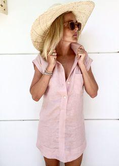 47b98e83ee The Midtown Dress Linen Shift Dress Collared Button Down Collar Dress