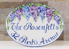 Do you want give a unique gift to newlyweds? This is a perfect idea: a personalized house address numbers with wisteria!