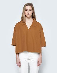 Collar Shirt in Tan