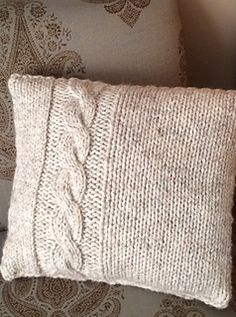 This is an easy cable pillow designed for the beginning cable knitter in mind, but the pattern is still fun and quick to knit for the advanced knitter. It makes a great gift!