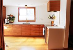 Semihandmade Mahogany IKEA kitchen.  Photo courtesy of Michele Wright.