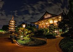 All sizes | EPCOT Center - Japan + Moving Clouds = Awesome | Flickr - Photo Sharing!