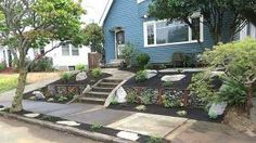 Steel and Stone Retaining Wall
