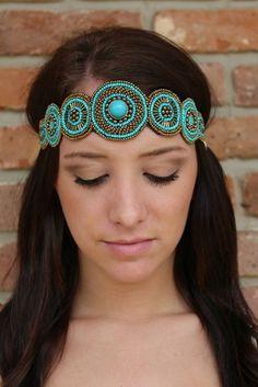 "Luna Boutique - ""Faye"" Pink Pewter Headband, $40.00 (http://www.shoplunaboutique.com/faye-pink-pewter-headband/)"