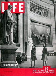 JUNE 18, 1945 US Congress Abraham Lincoln - www.MadMenArt.com | Our favorite Vintage Magazine Covers from 1891 to 1970. A timeline of cover personalities and historic events.