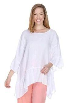 Your Online Linen Clothing Boutique - Tops ~ Hankercheif Linen - Linen Clothing Match Point Shirt Skirt Pants Capris SALE La Fixen Shorts Match Point, Boutique Tops, Boutique Clothing, Womens Linen Clothing, Point Light, Linen Tunic, Shirt Skirt, Ruffle Top, Pink