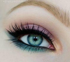 ojos pintados lapiz color aguamarina - Google Search