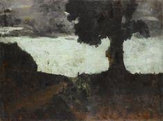 Jean JacquesHenner (Fr. 1829-1905),Route de Galfingen avec le vieux cerisier et la croix,huile sur toile, 89,2 x 119cm,Paris, mus...
