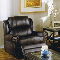 Palliser Furniture Luca Wall Hugger Recliner Type: Power, Upholstery: All Leather Protected - Tulsa II Chalk