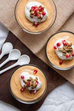 Vegan Pumpkin Mousse | TheCornerKitchenBlog.com #dessert #pumpkin #thanksgiving