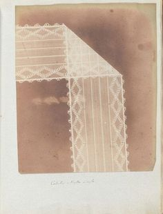 Henry Fox Talbot Lace 1839 Photogenic Drawing, solar microscope