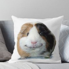 Keep Smiling with Angeelo the Guinea Pig! Throw Pillow