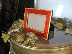 Red Gold Frame Handmade in Italy by NelliesTreasureTrove on Etsy, $55.00