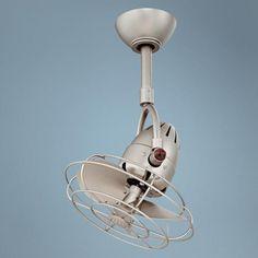 "13"" Matthews Diane Brushed Nickel Ceiling Fan | LampsPlus.com  watch the video this fan is cool...no pun intended"