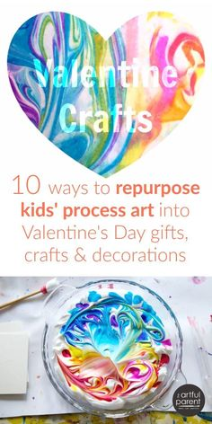 10 Valentine Crafts for Kids to Make from Process Art